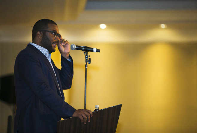 'It's never too late,' Tyler Perry tells Southern Heritage Classic luncheon